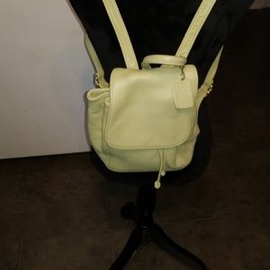 Small light green Coach Backpack